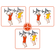 Load image into Gallery viewer, Professional Wall-Mounted Pull-Up/Chin-Up Bar, Heavy Duty 440 lb. Capacity