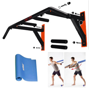 Professional Wall-Mounted Pull-Up/Chin-Up Bar, Heavy Duty 440 lb. Capacity