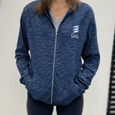 Women's Lightweight Full Zip Hoodie - Fluid Health and Fitness