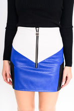 Load image into Gallery viewer, Skirt leather look Blue