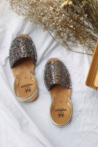 Sandals glitter multicolor