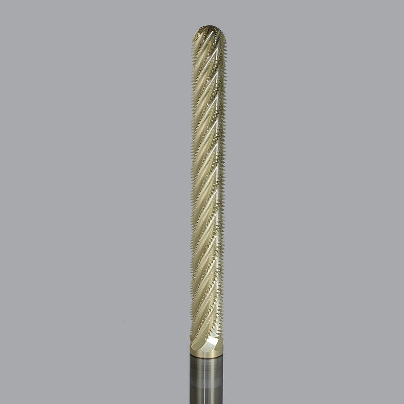 "Onsrud 29-130B<br/>1/2"" (12.7mm) CD x 4-1/2"" LoC x 1/2"" SD x 6-1/2"" OAL<br/> Solid Carbide Ball Nose Honeycomb Hogger with ZRN Coating"