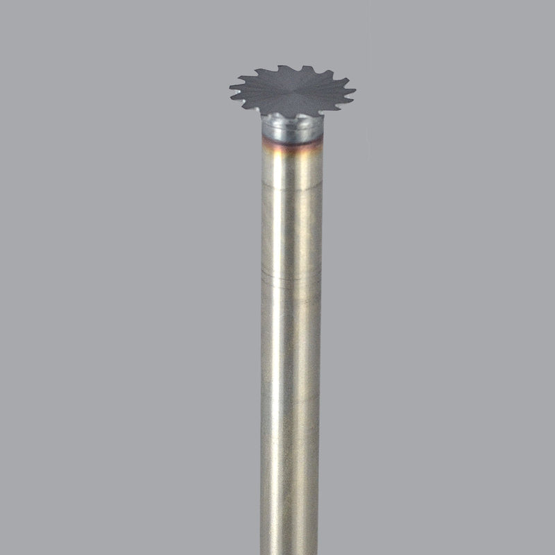 "Onsrud 31-104TCN<br/>1/2"" CD x 0"" LoC x 1/4"" SD x 3"" OAL<br/>High Speed Steel - Honeycomb Cutter with Teeth, TICN Coated"