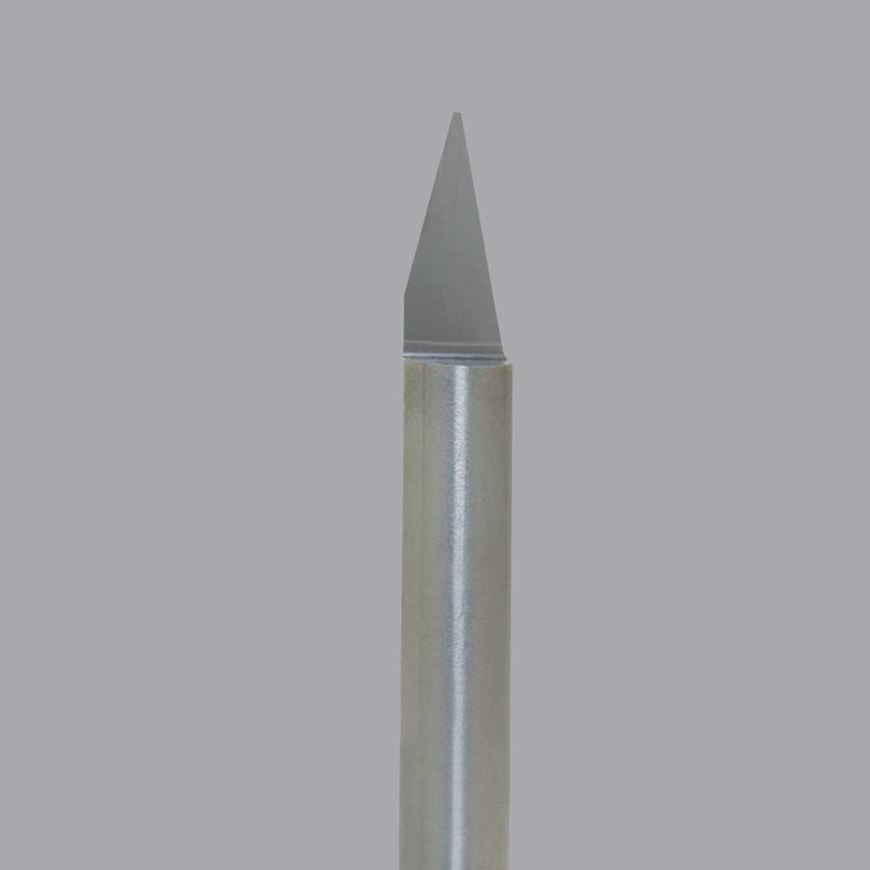 "Onsrud 37-21<br/>0.005"" Tip x 1/4"" SD x 2"" OAL<br/>1 Flute - Solid Carbide Straight Engraving Bit, 30 Degree Angle Tip"