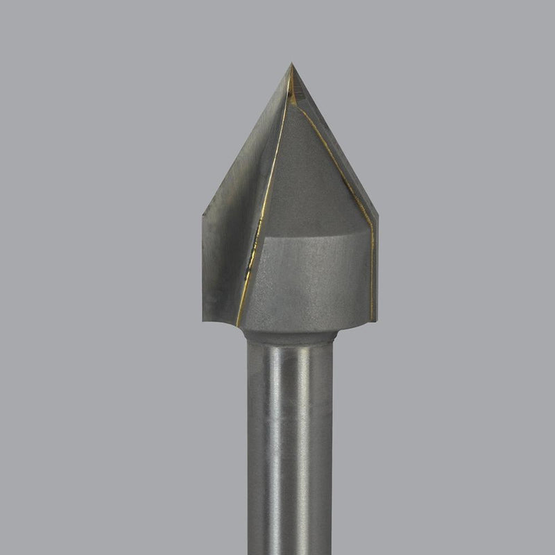 Onsrud 37-92<br/>2'' CD x 0.577 LoC x 1/2'' SD x 2-7/8'' OAL<br/>2 Flute – Carbide Tipped 120° V Grooving Lettering Bits