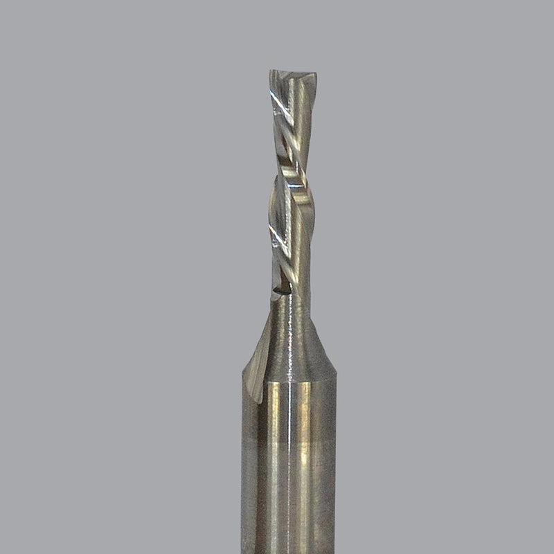 Onsrud 57-040<br/>1/8'' CD x 1/2'' LoC x 1/4'' SD x 2'' OAL<br/>2 Flute – Solid Carbide Downcut Spiral