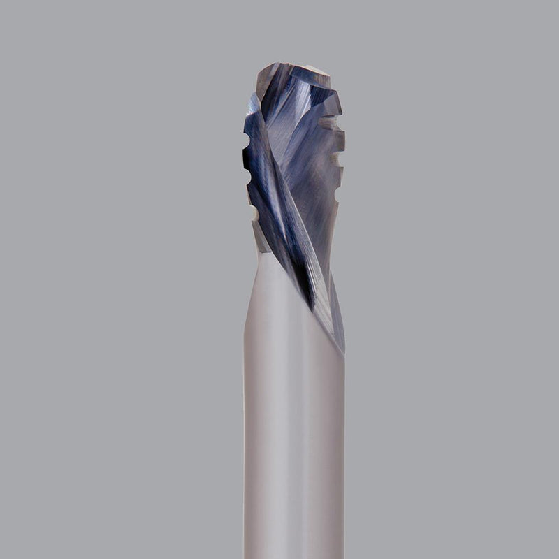 "Onsrud 60-169C<br/>1/2'' CD x 1-1/8'' LoC x 1/2'' SD x 3'' OAL<br/>2 Flute – Solid Carbide Chipbreaker, Finisher Compression Spiral; .562"" Upcut Flute LoC"
