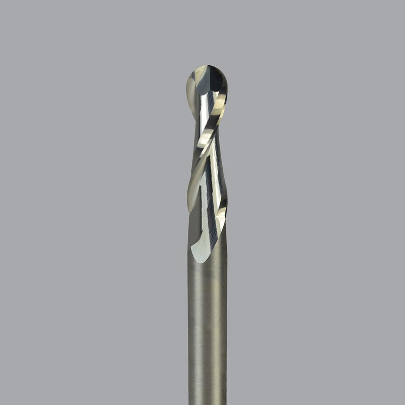 "Onsrud 65-225B<br/>1/4"" CD x 1-1/8"" LoC x 1/4"" SD x 3"" OAL<br/>2 Flute - Solid Carbide Upcut-Spiral High Finish Ballnose"