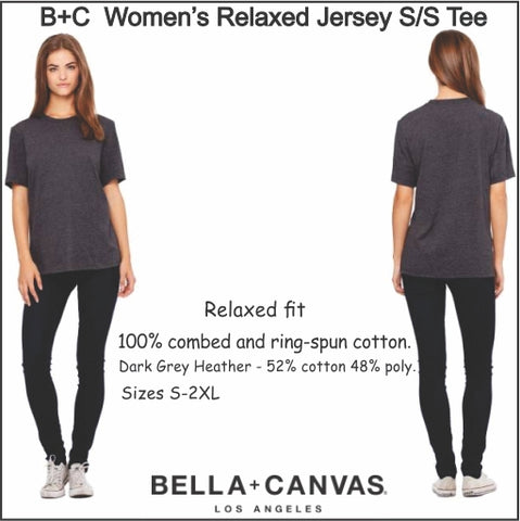 Bella + Canvas womens relaxed short sleeve t-shirt