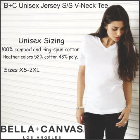 Bella + Canvas Unisex V-Neck T-shirt