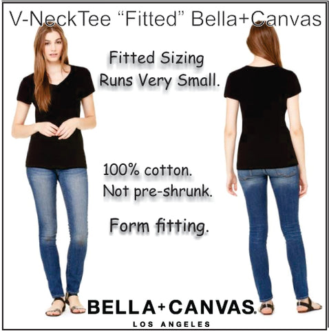 Bella+Canvas V-Neck Fitted Tee
