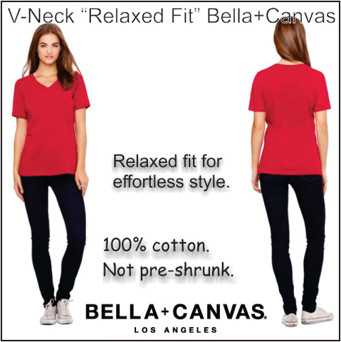 Bella+Canvas Relaxed Fit V-Neck Tee
