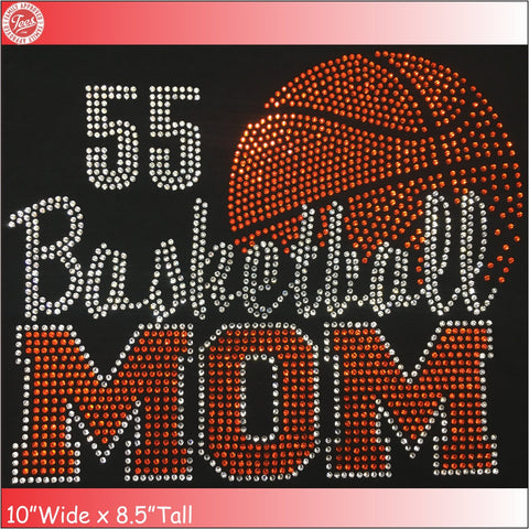 """Basketball Mom 4"" Rhinestone Tee"