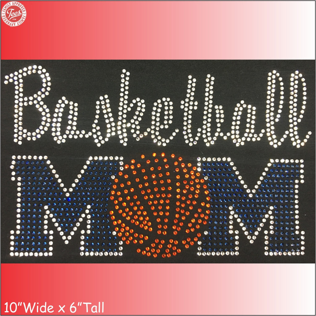 """Basketball Mom 5"" Rhinestone Tee"