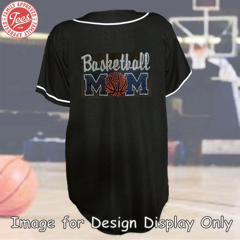 """Basketball Mom 5"" Rhinestone Jersey"