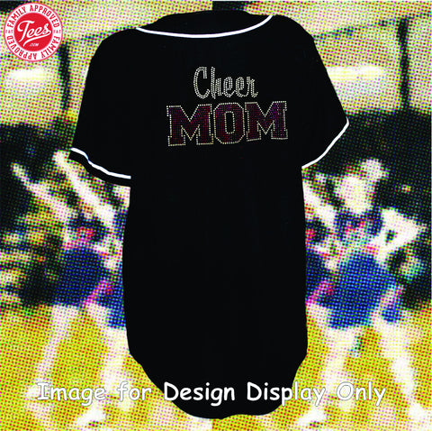 """Cheer Mom 2"" Rhinestone Jersey"