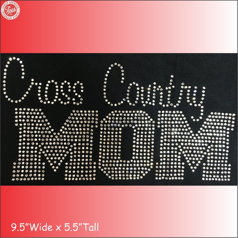 """Cross Country Mom"" Rhinestone Tee"