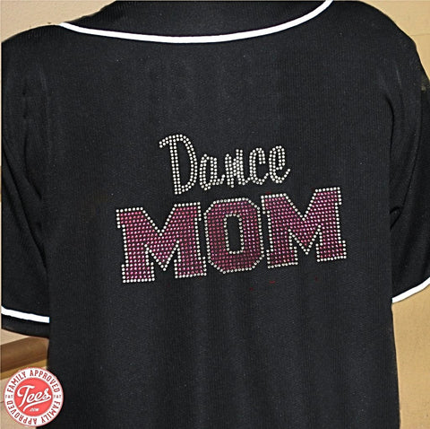 """Dance Mom 3"" Rhinestone Jersey"