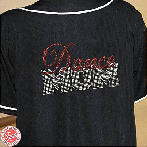 """Dance Mom"" Rhinestone Jersey"