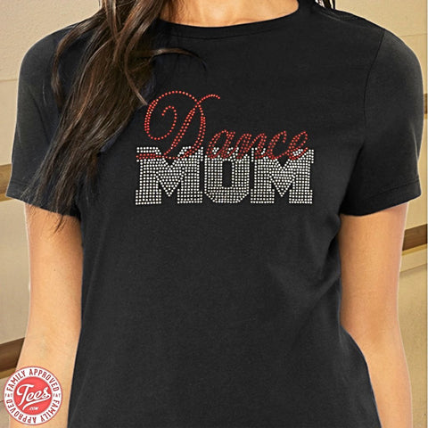 """Dance Mom"" Rhinestone T-Shirt"