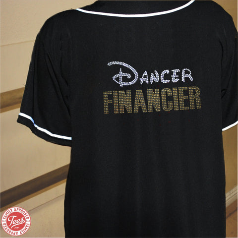 """Dancer Financier"" Rhinestone Jersey"