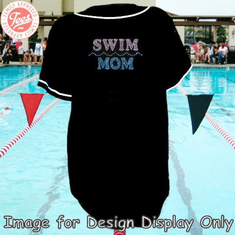 """Swim Mom"" Rhinestone Jersey"