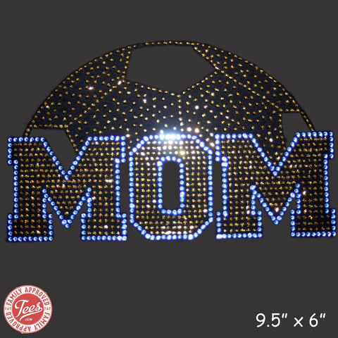 """Soccer Mom World"" Rhinestone T-Shirt"