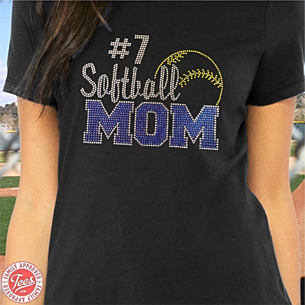 Softball Mom rhinestone t-shirt