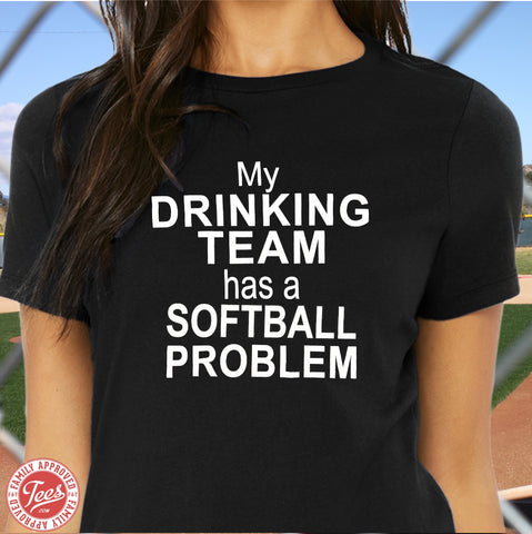 "Mom ""Softball Problem"" T-Shirt"