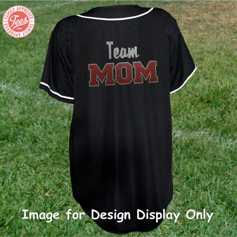 """Team Mom"" Rhinestone Jersey"