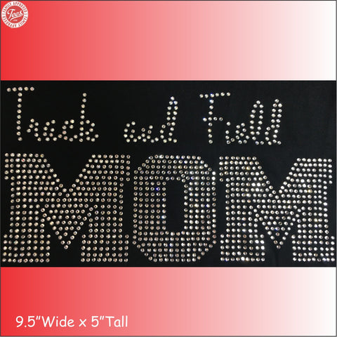 """Track and Field Mom"" Rhinestone T-Shirt"