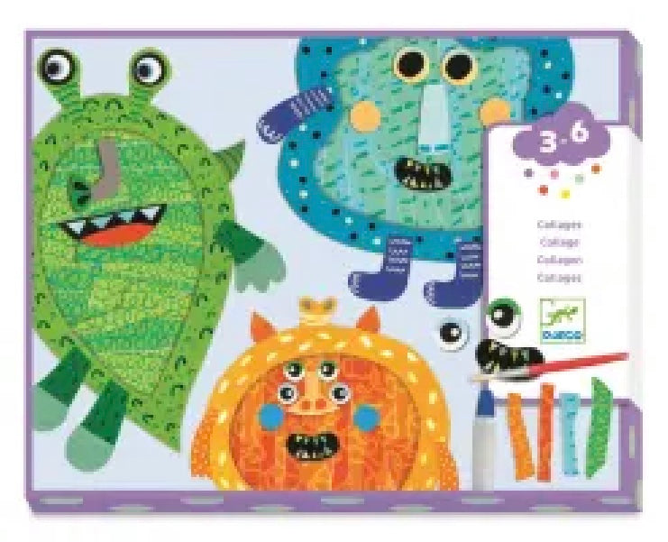 Happy Monsters Collage Kit