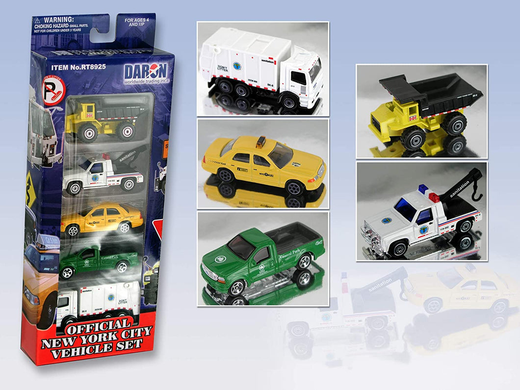 Official New York City Vehicle Set 5 Piece
