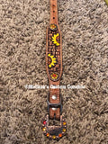 16 inch Leather Sunflower Collar