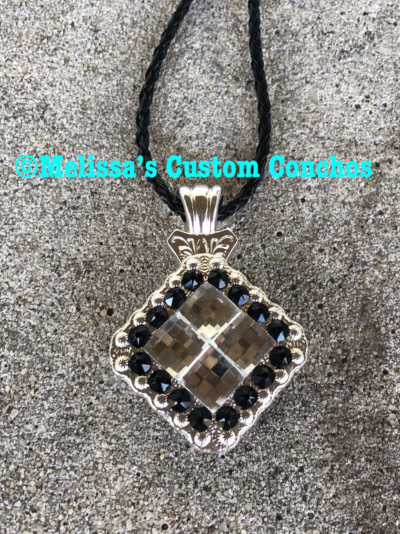 Clear/Jet Black Necklace