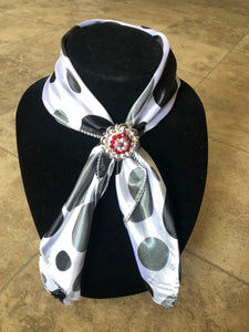 Black/White Polka Dot Scarf