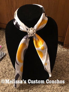 Yellow Candy Cane Scarf