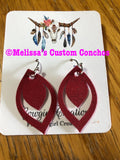 Mini Drop Leather Earrings