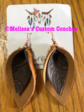 Magnolia Double Pinch Leather Earrings
