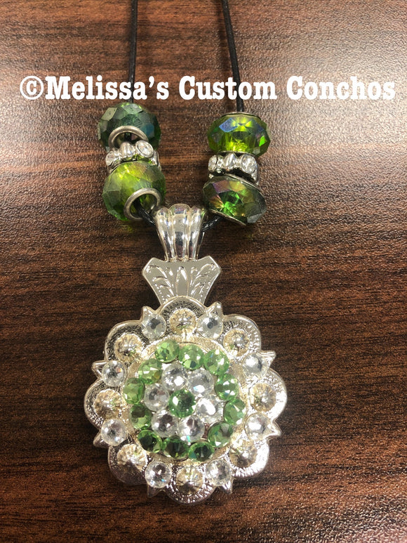 Peridot/Clear Necklace