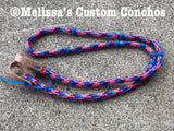 Pink/Blue/Purple Barrel Reins