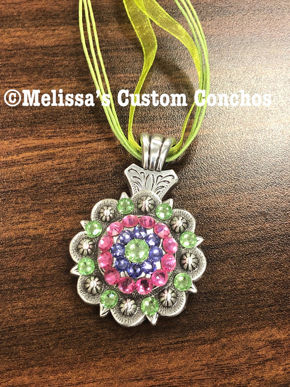 Rose/Peridot/Tanzanite Necklace