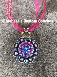 Fuchsia AB Necklace