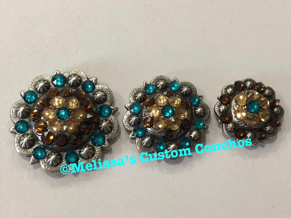 Blue Zircon, Light Colorado Topaz, & Smoked Topaz