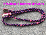 Pink/Purple/Black Barrel Reins