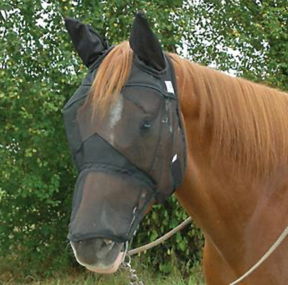 Cashel Fly Mask Quiet Ride Extended Nose