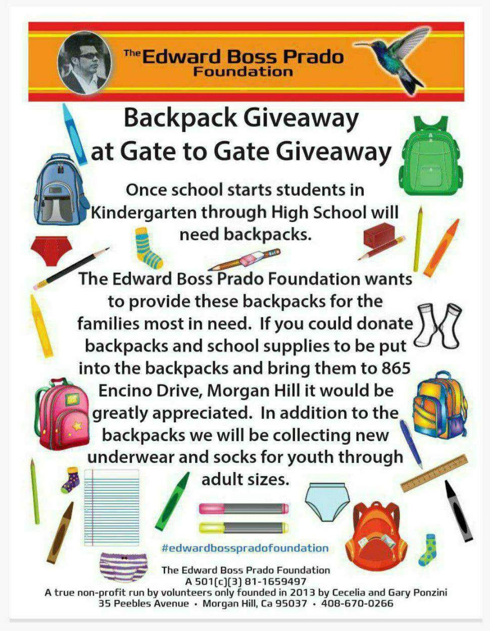 Backpack Donation