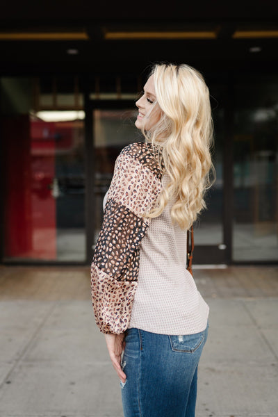 Glitz and Glam Taupe Top