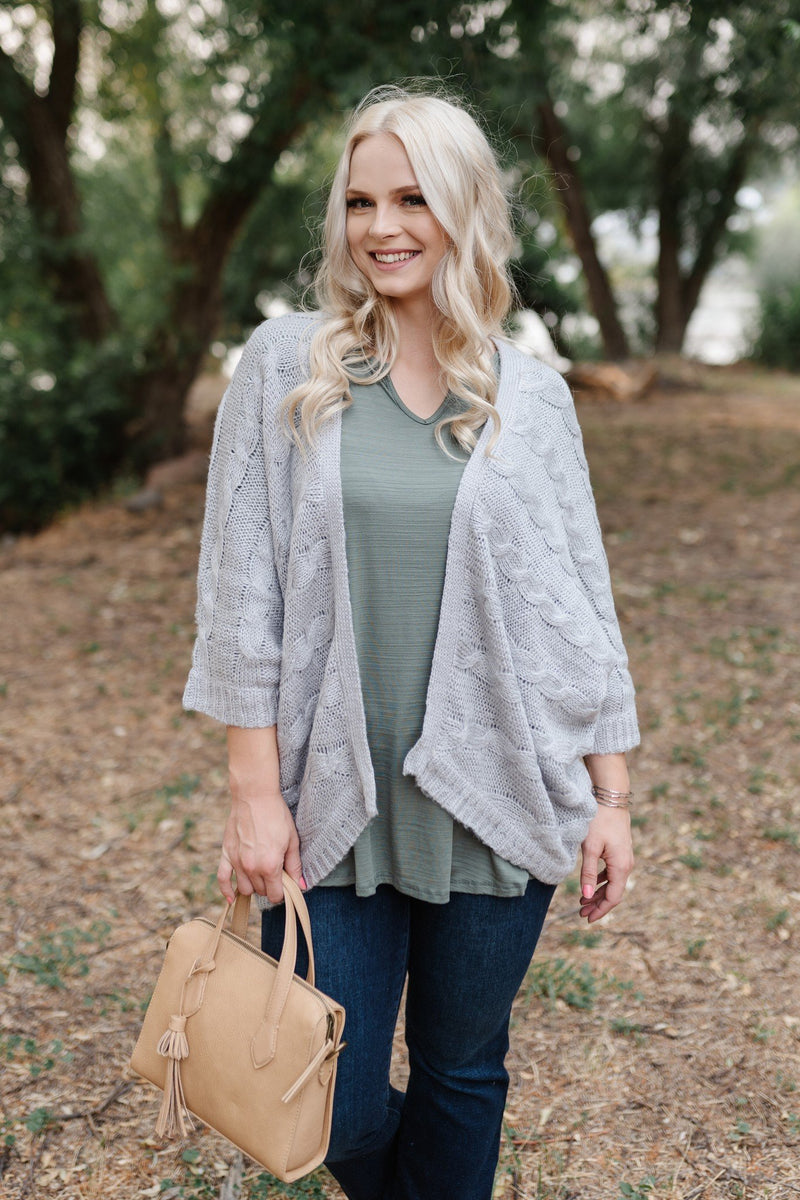 Gray For All Seasons Knit Cardigan