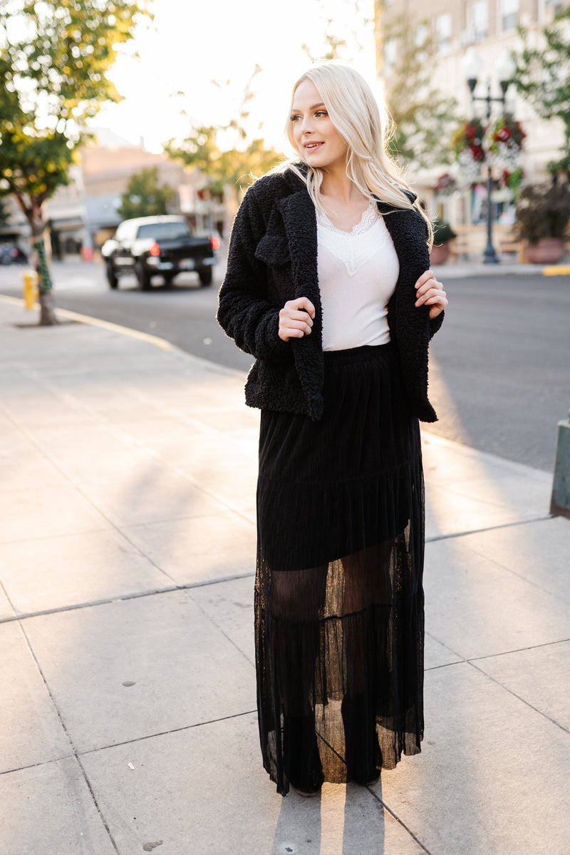 Dance Till Dawn Tiered Pleated Maxi Skirt